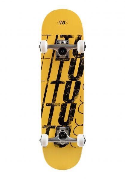 TITUS Skateboard komplett Fivefold-Mini dusty-yellow vorderansicht 0161987