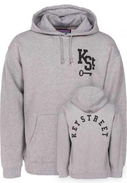 Key Street Hoodies Arch Logo heathergrey vorderansicht 0445190