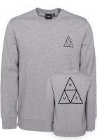 HUF Sweatshirts und Pullover Triple Triangle heathergrey-black Vorderansicht