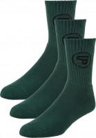 TITUS Socken Classic Icon 3er Pack forestgreen Vorderansicht