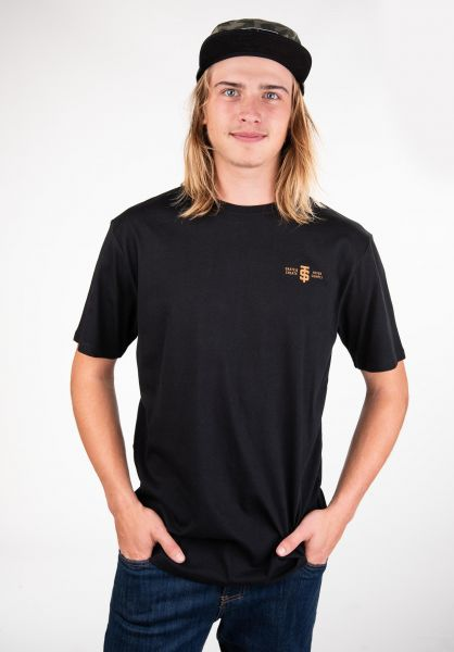 TITUS T-Shirts Fingers-Backprint black vorderansicht 0397549
