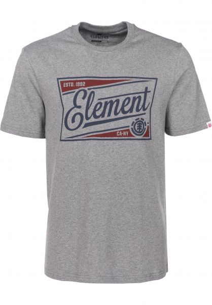 Element T-Shirts Wedge heathergrey Vorderansicht