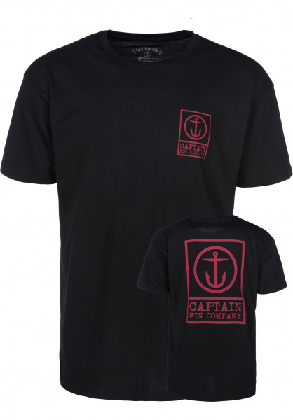 Captain Fin T-Shirts Boxed Out II black Vorderansicht
