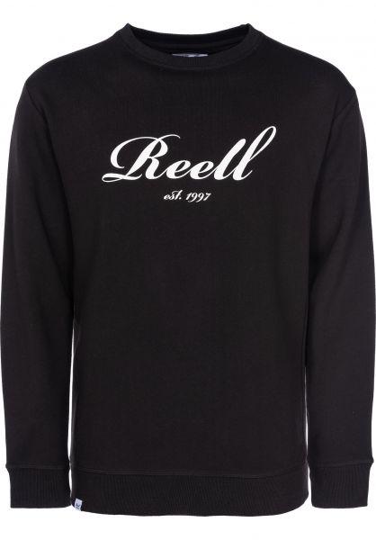 Reell Sweatshirts und Pullover Big Logo Crewneck deepblack vorderansicht 0422476