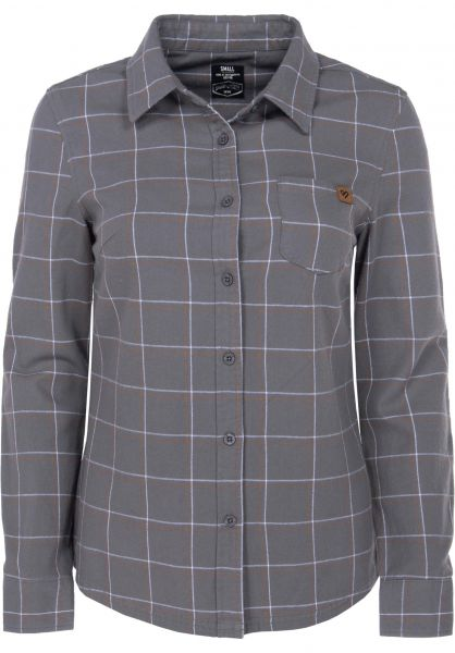 TITUS Hemden langarm Felipa grey-checked Vorderansicht