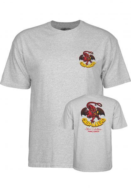 Powell-Peralta T-Shirts Cab-Dragon-II heather-grey Vorderansicht