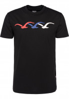Cleptomanicx T-Shirts Thremo black Vorderansicht