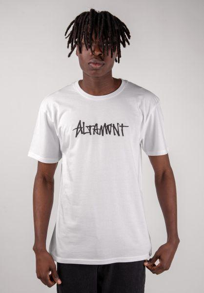 Altamont T-Shirts One Liner Wash white vorderansicht 0383222
