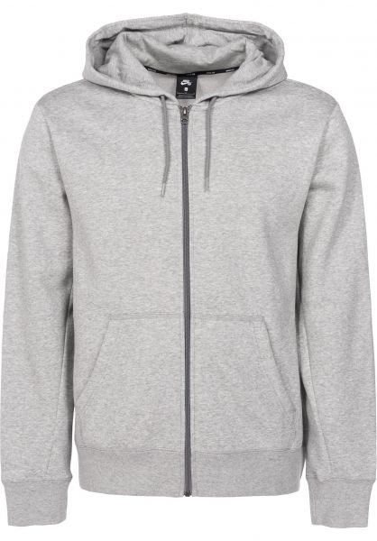 Nike SB Zip-Hoodies SB Icon Full Zip darkgreyheather Vorderansicht