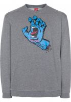 Santa-Cruz-Sweatshirts-und-Pullover-Screaming-Hand-darkheather-Vorderansicht