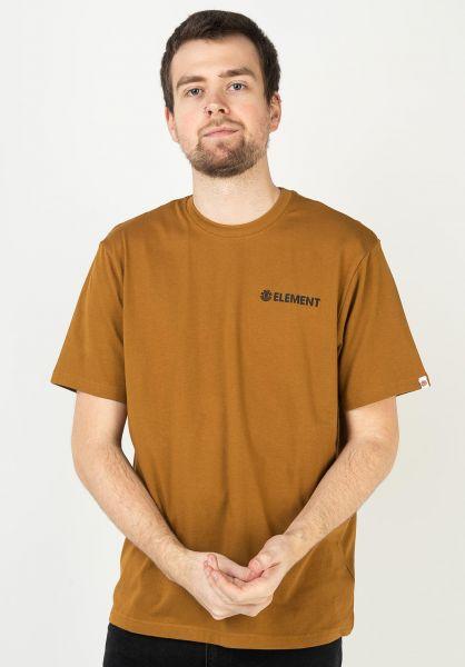 Element T-Shirts Blazin Chest goldbrown vorderansicht 0320483