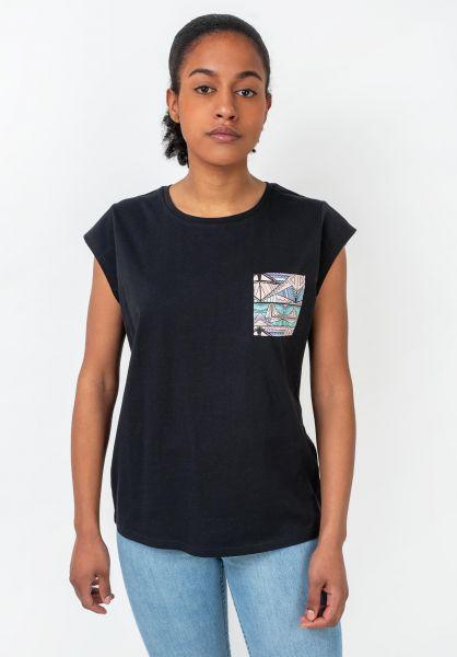 TITUS T-Shirts Kimi black vorderansicht 0396515