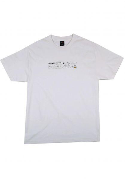 Pizza Skateboards T-Shirts Idea white vorderansicht 0322475