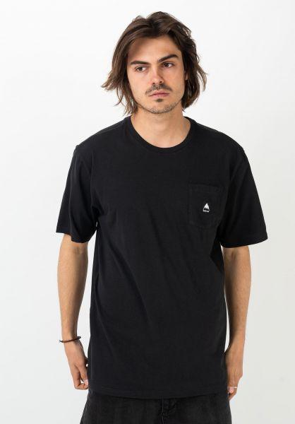 Burton T-Shirts Colfax Organic trueblack vorderansicht 0321506