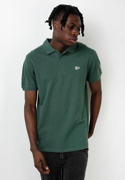 TITUS Polo-Shirts Script Polo bottlegreen vorderansicht 0138396