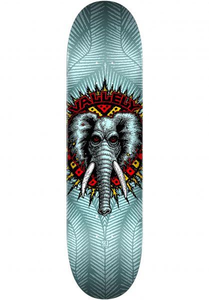 Powell-Peralta Skateboard Decks Vallely Elephant Birch blue vorderansicht 0262830