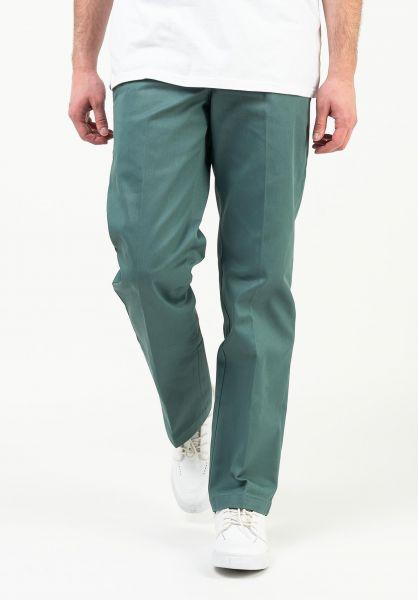 Dickies Chinos und Stoffhosen Slim Straight Dickies Work Pant WP873 lincolngreen vorderansicht 0520642