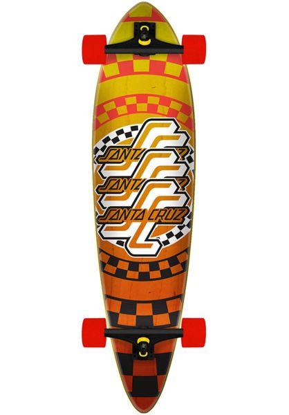 Santa-Cruz Longboards komplett Check OGSC Pintail yellow-orange vorderansicht 0194270