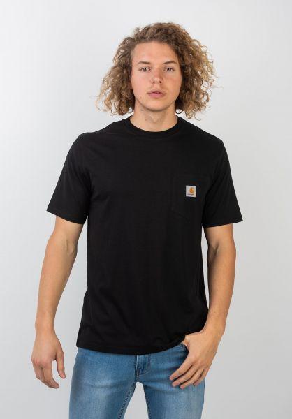 Carhartt WIP T-Shirts Pocket black vorderansicht 0393365