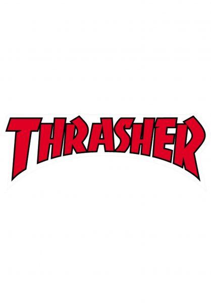 Thrasher Verschiedenes Die Cut Logo Sticker red Vorderansicht