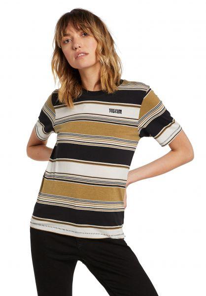 Volcom T-Shirts Doing Fine vintagegold vorderansicht 0322252