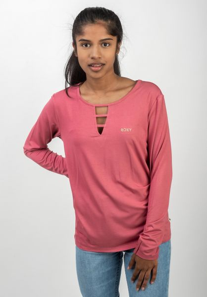 Roxy Longsleeves Rooftop Party mauvewood vorderansicht 0383411