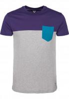 iriedaily T-Shirts Block Pocket 2 deeppurple Vorderansicht