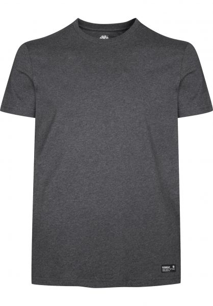 Element T-Shirts Basic Crew charcoalheather Vorderansicht