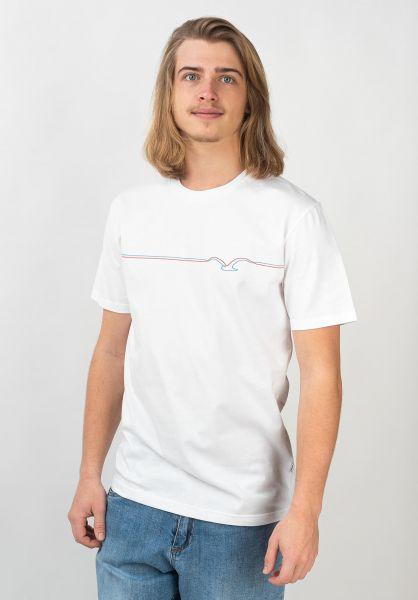 Cleptomanicx T-Shirts Möwe Lines white-orangelilly vorderansicht 0399749