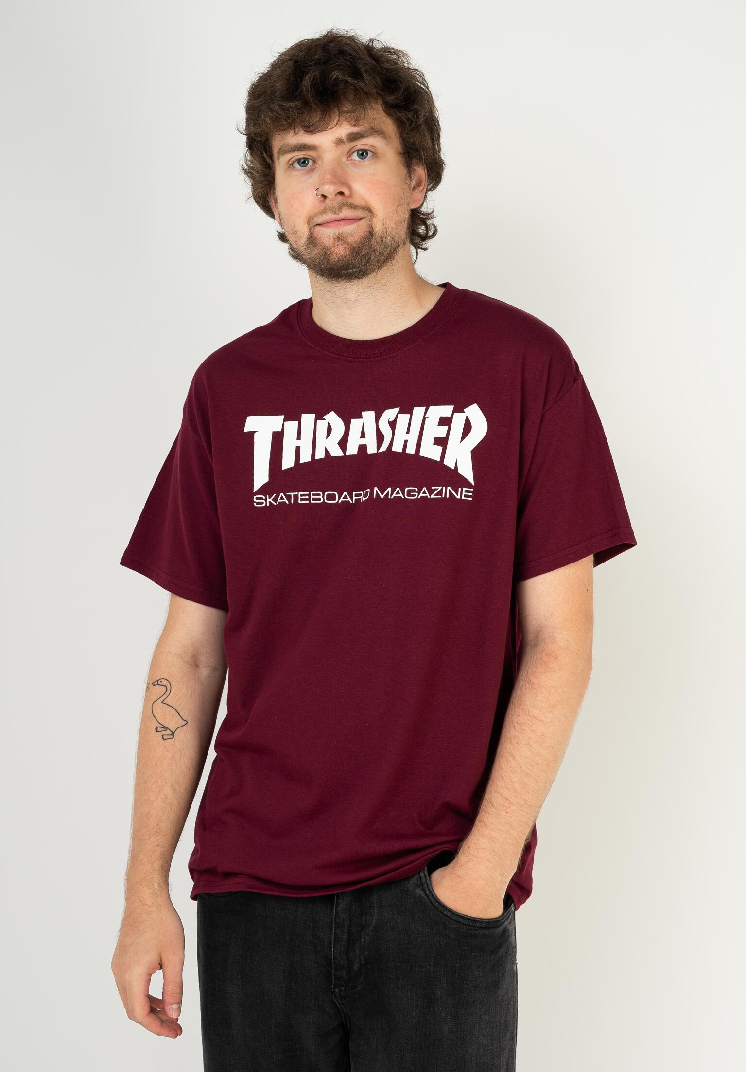 12efe8be Skate-Mag Thrasher T-Shirts in maroon for Men | Titus