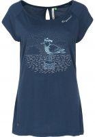 Ragwear T-Shirts Sea Breeze Organic denimblue Vorderansicht