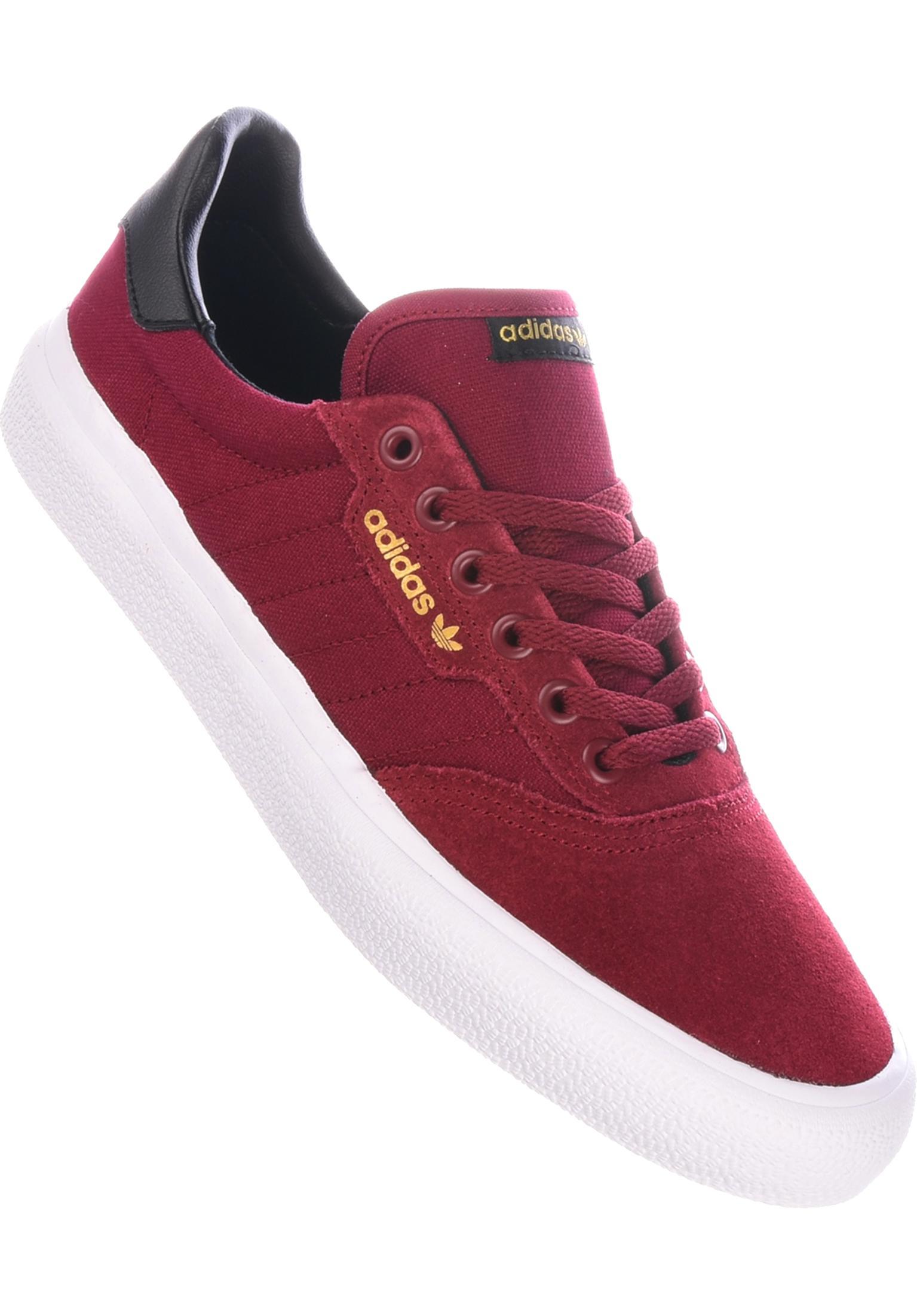 3MC adidas-skateboarding Tutte le scarpe in burgundy-coreblack-gold da Uomo   72ba018e67e