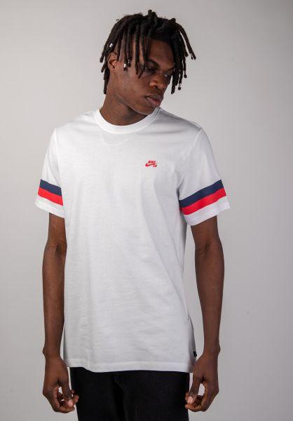 Nike SB T-Shirts Sleeve Stripe white vorderansicht 0320233