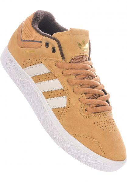 adidas-skateboarding Alle Schuhe Tyshawn mesa-corewhite-darkbrown vorderansicht 0604654