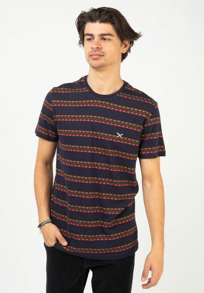 iriedaily T-Shirts Monte Noe Jaque 0 navy-orange vorderansicht 0323193