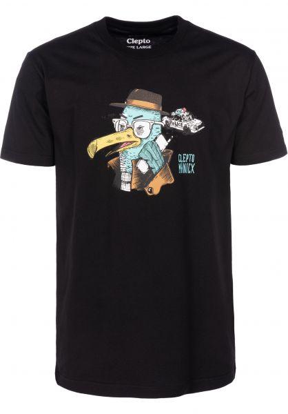 Cleptomanicx T-Shirts Done black vorderansicht 0399742