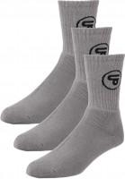 TITUS Socken Classic Icon 3er Pack grey Vorderansicht