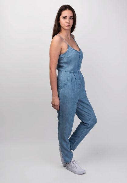 RVCA Jumpsuits Flasher Chambray chambray vorderansicht 0251025