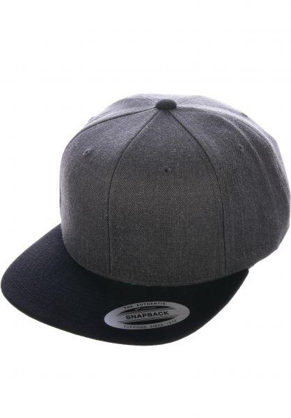 Flexfit Caps Snapback Cap darkgrey-black vorderansicht 0566389