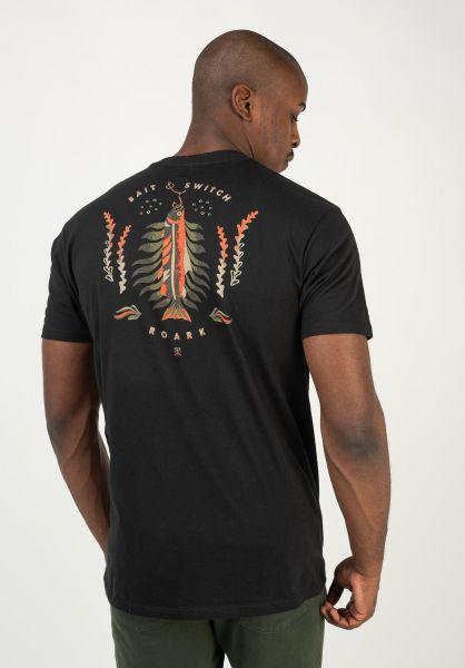 Roark T-Shirts Bait & Switch black vorderansicht 0322563