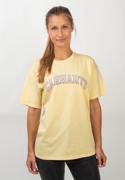 Carhartt WIP T-Shirts W´ S/S Princeton paleyellow vorderansicht 0399986