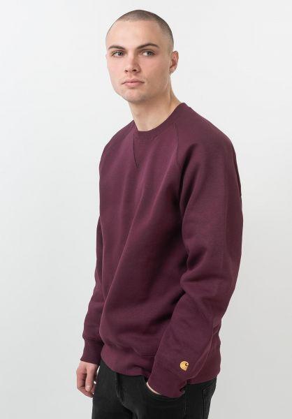 Carhartt WIP Sweatshirts und Pullover Chase shiraz-gold vorderansicht 0420832