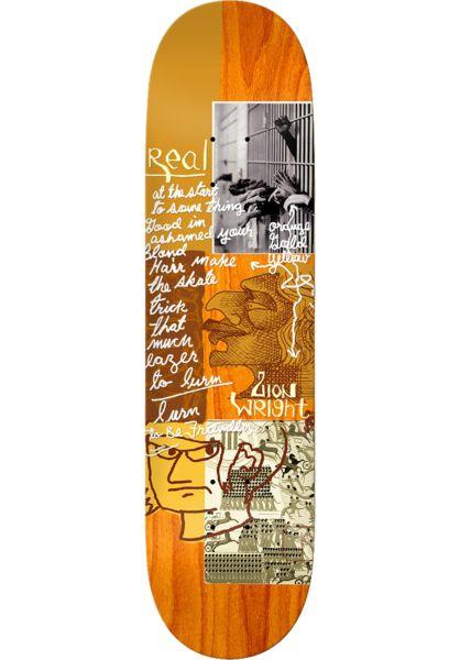 Real Skateboard Decks Wright Postcard From Mark orange vorderansicht 0262682