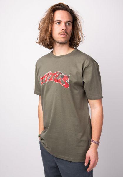 TITUS T-Shirts Schranz olive vorderansicht 0373578