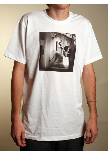 The-Skateboard-Mag T-Shirts Heath white Vorderansicht