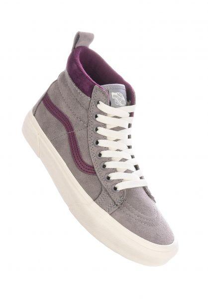 Vans Alle Schuhe Sk8-Hi MTE frostgray-prune vorderansicht 0612371