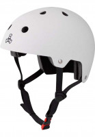 Triple Eight Helme Brainsaver rubber-white Vorderansicht