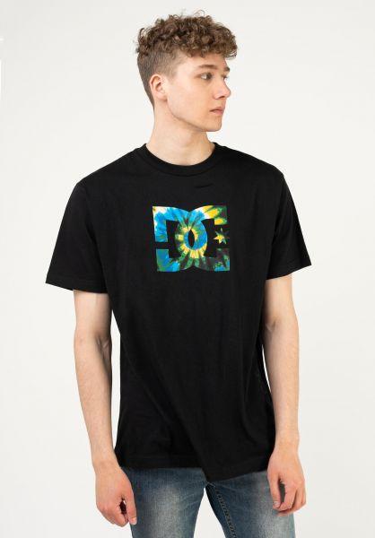 DC Shoes T-Shirts Star Tie Dye Fill black vorderansicht 0323298