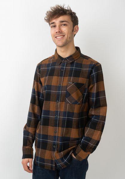Volcom Hemden langarm Caden Plaid bison vorderansicht 0411825