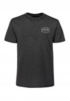 TITUS-T-Shirts-Hexagon-Kids-darkgreymottled-Vorderansicht